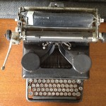 My old typewriter, that I purchased at an antique store in the middle of nowhere, Arkansas, for a mere $35. Every writer needs an old typewriter, mainly to remind us how far we